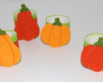 Pumpkin Napkin Rings Set of 8