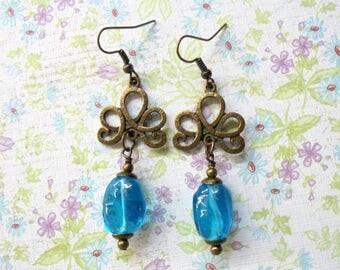 Aqua Boho Earrings (3424)