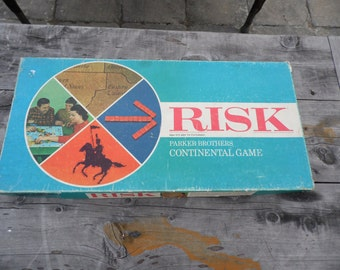 RISK vintage 1968 Parker Brothers Continental Game COMPLETE game ready for your family game night