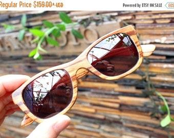 Christmas 30% OFF Walker2012   Handmade Vintage Zebra Wood  Wooden Sunglasses Glasses Eyeglasses