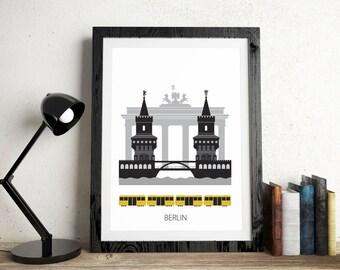 Berlin, Digital download, Scandinavian design, skyline, art
