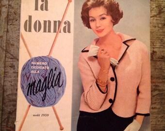 Vintage 1959 La Donna Spanish Knit Knitting Pattern Book