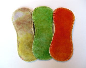 """THREE 7inch TinyReusable Cloth Liners - """"colour combo"""""""