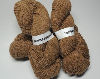 Naturally dyed walnut California Red sheep wool sport weight yarn
