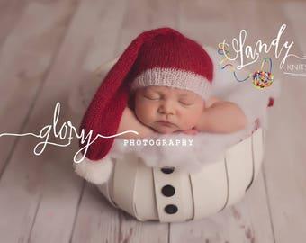 Newborn Santa hat, Christmas hat, Christmas photo prop, Santa Hat, Baby boy, Baby girl, infant santa hat, baby santa hat, newborn photo prop