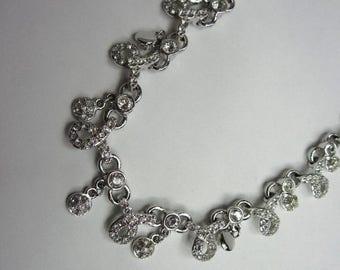 On Sale Swarovski Crystal necklace.  Bridal Wedding Day Necklace. Cocktail Necklace.New Old Stock.