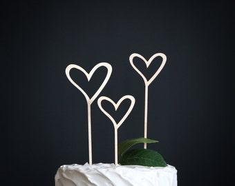 hearts cake topper   heart wedding cake topper   wood cake topper   love cake topper   rustic cake topper   heart cake topper