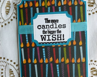 Happy Birthday Candles Greeting Card