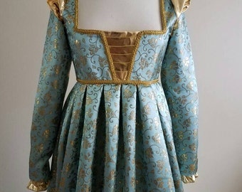 Italian Renaissance Brocade Dress Gown - Custom Made