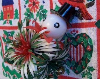 plastic snowman head decoration