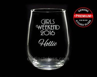 WEDDING WINE Glasses - Personalized Stemless Wine Glasses - Gifts Night In Out Girls Only Party Bachelorette Gifts 17oz Ships to Canada