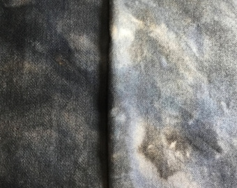 Vintage Slate Blue - hand dyed rug hooking wool fabric -  1/4 yard dyed on Oatmeal or Natural Wool