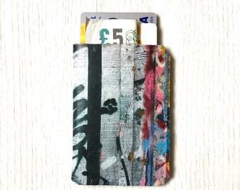 Business Card Holder-Credit Card Holder-Debit Card Case-Business Card Case-Oyster Card Holder-Debit Card Holder - Pink Graffiti