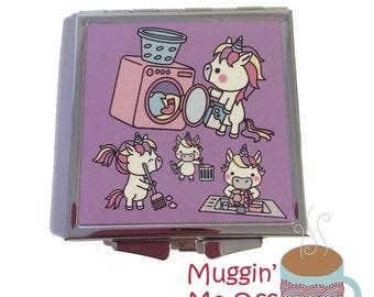 Unicorn Compact Mirror | Mirror | Handbag Mirror | Unicorn | Unicorns | Pocket Mirror