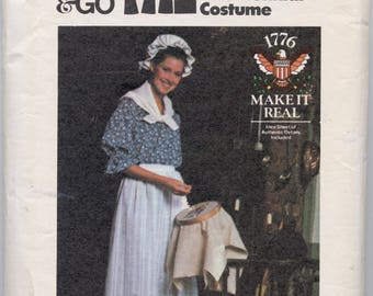 Vintage Bicentennial Costume Sewing Pattern - Butterick 4335 - Size Small - Sizes 8-10