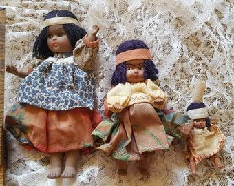 Three Little Indian Souvenir Dolls
