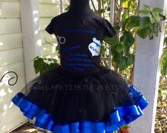 State trooper shirt, graduation shirt, trooper tshirt, ribbon edge tutu, tutu set, girls shirt, sibling shirt, vinyl shirt, toddler tshirt