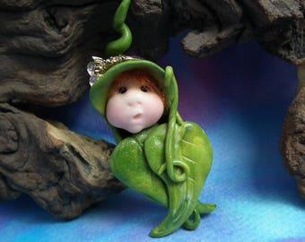 Baby Elfling Princess 'Katja' Infant Bundle Seed-podling Swaddle OOAK Sculpt by Sculpture Artist Ann Galvin