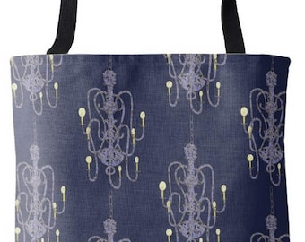 Chandelier Pattern Tote Bag
