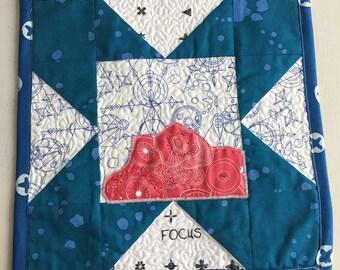 Focus Snack Mat Alison Glass Fabrics - FREE shipping