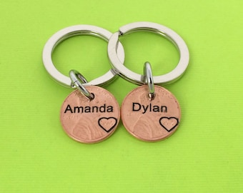 Couple Name - Personalized Stamped Penny - Gift for Him - Daughter Gift For - Son Gift For - Anniversary - Boyfriend - girlfriend
