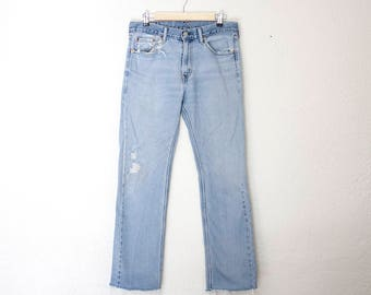 Vintage 1990s Levi's Jeans 505 High Waisted Relaxed Fit Straight Leg
