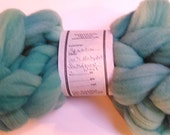 "Roving Combed Top Babydoll Southdown Wool for Spinning 2 Ounce Braid Turquoise Fiber  "" Aquatic  "" (more available)"