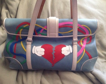 Kustom Kanye Koach Purse - Hand-painted, OOAK, purse #4 - 808s and Heartbreak