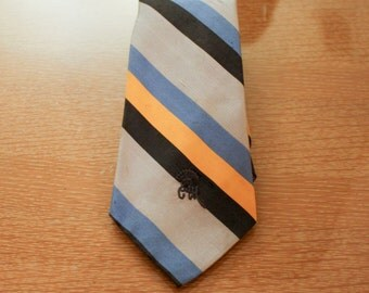 Vintage Countess Mara Blue and Yellow Tie