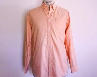 Peach Button up Oxford