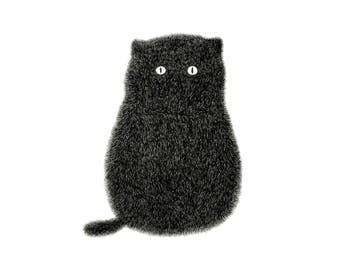 Cat Print – The Furry Thing Series – Kitty No.1 A3