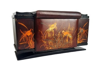 Asian Lacquer Koi Fish Cigarette Dispenser