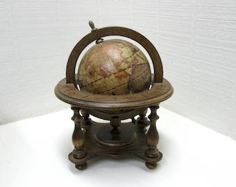 Vintage Olde World Globe Desktop Globe Terrestrial And Celestial Desk Globe Zodiac Desk Globe Made In Italy
