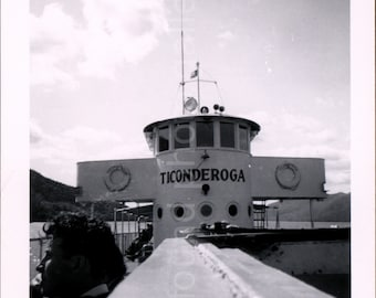 Vintage Photo, Ticonderoga Ferry, Black & White Photo, Old Photo, Found Photo, Snapshot, Vernacular Photo, Travel Photo