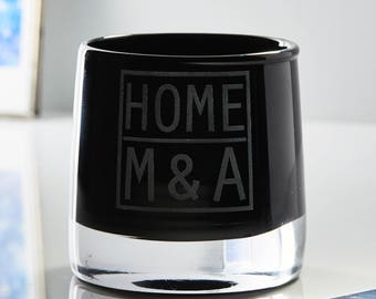 Glass Personalised Candle Holder