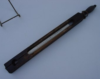 Antique Candy Cheese Cooking Thermometer Wood B.T. Co.