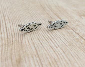 Handmade Stud Earrings // Aztec Stud Earrings // Stamped Jewelry // Stamped Earrings // Southwestern Jewelry // Stamped Earrings