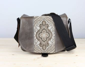 Creme Baroque Leather Camera Satchel Bag DSLR - PRE - ORDER