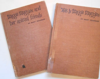 This is Maggie Muggins and Maggie Muggins and Her Animal Friends, Two Vintage Children's Books