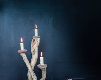 Driftwood Candle Holder,Driftwood Candelabra,Driftwood Candle Stand, Drift wood Candle Holders,Table Centre,Table Decoration