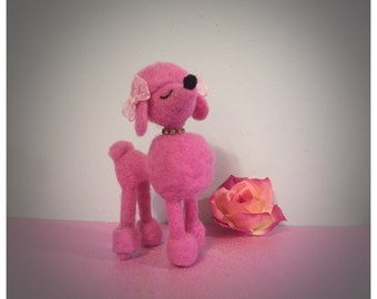Pink Poodle, Felted Fuzzy and Snooty