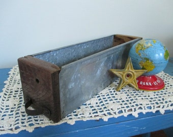 Vintage Salvaged Wood and Metal Drawer - Studio Decor - Studio Storage - Industrial Decor