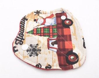 "Thong Liners Cotton Fleece 6"" Plaid Christmas Tree Snowman"