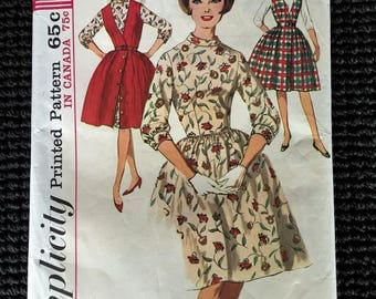 Vintage Simplicity 5107 Junior Dress Jumper Sewing Pattern Size 13 Bust 33 UNCUT