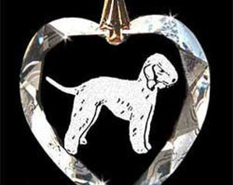 Bedlington Dog Jewelry Custom Crystal Necklace Pendant, Suncatcher with any Animal or Name YOU Want, Gift, Dog Lover, Handler, Trainer