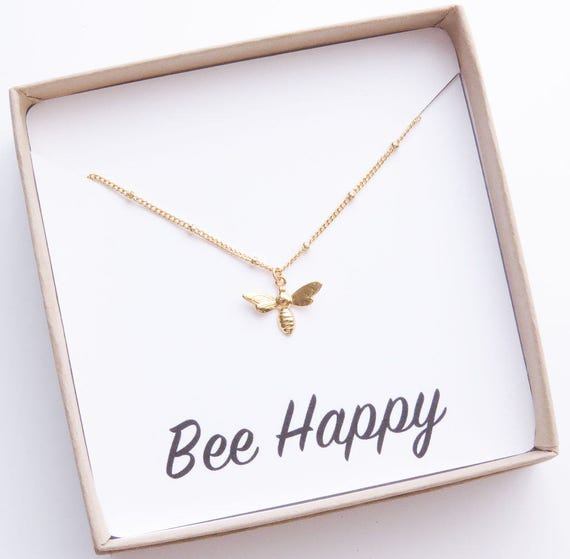 Tiny Gold Bee Necklace