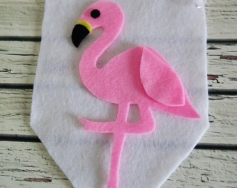 Flamingo , pink flamingo ,  Felt flag , wall hanging ,  flamingo wall art , flamingo gifts , flamingo decor