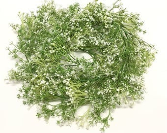 6 Ft Green and White Baby's Breath Flower Garland, Gypsophila - Artificial Flowers, Wedding, Arbor, Trellis, Flower Crown, Hair Accessories