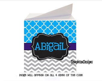 Personalized Sticky Note Cube, Sticky Note Memo Cube, Note cube with sticky adhesive, Teacher gift, desk accessory, Personalized note cube