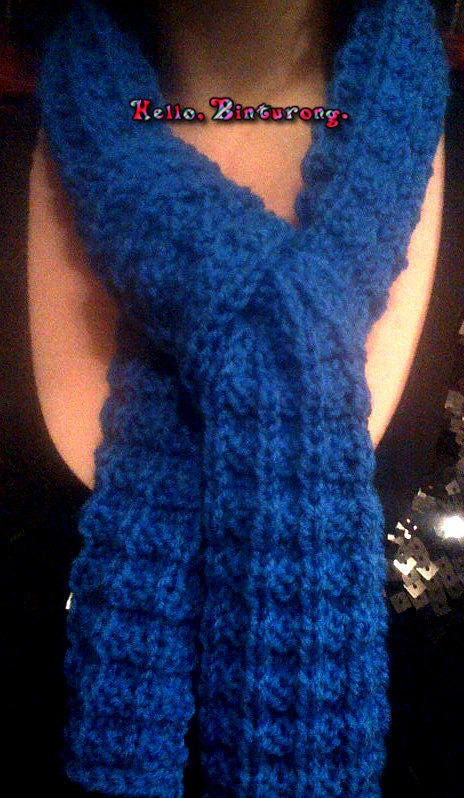Waffle stitch scarf knitted scarf more colors available
